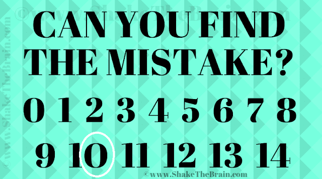 Answer of Find the Mistake Picture Puzzle