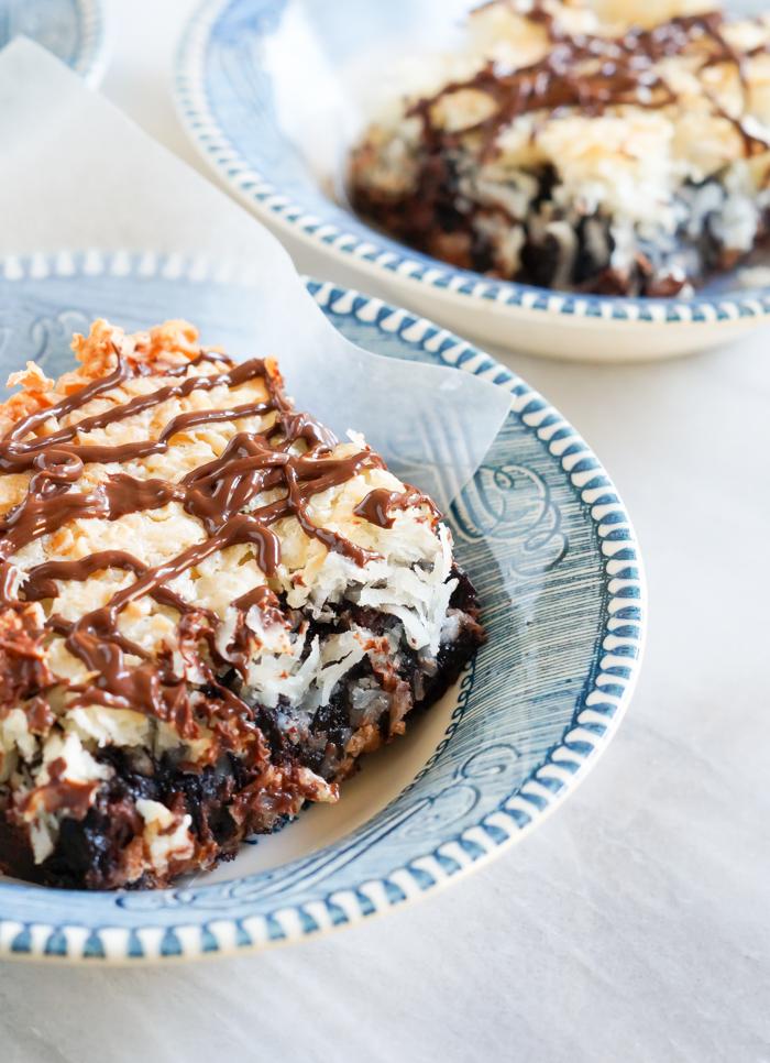Macaroon Brownies | bakeat350.net for @imperialsugar