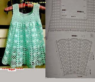 Image result for vestidos em croche com graficos
