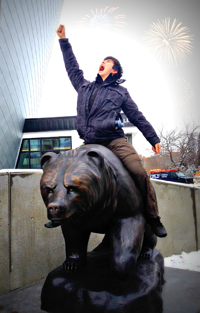 Ride the Alberta Bear at UAlberta
