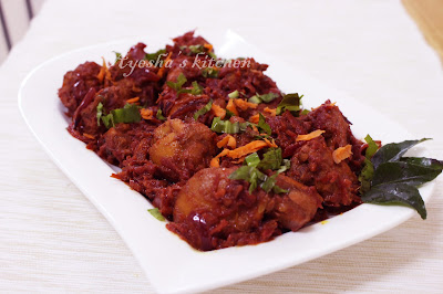 beetroot chicken special chicken recipe dish with beetroot side dish