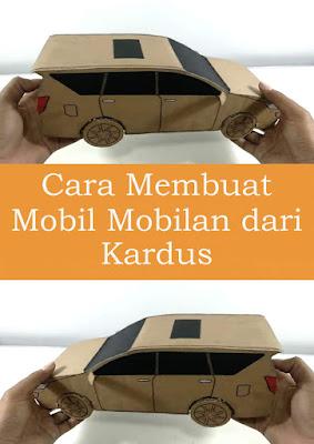 Cara Membuat Mobil Mobilan dari Kardus Sepatu