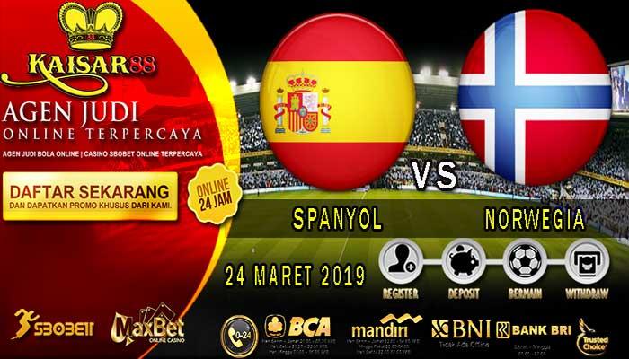PREDIKSI BOLA TERPERCAYA SPANYOL VS NORWEGIA 24 MARET 2019