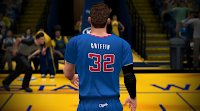 L.A. Clippers Blue Short-Sleeved Christmas Jersey