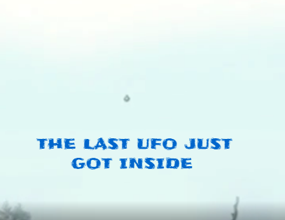 This is the moment when the last UFO goes inside it's Mothership.