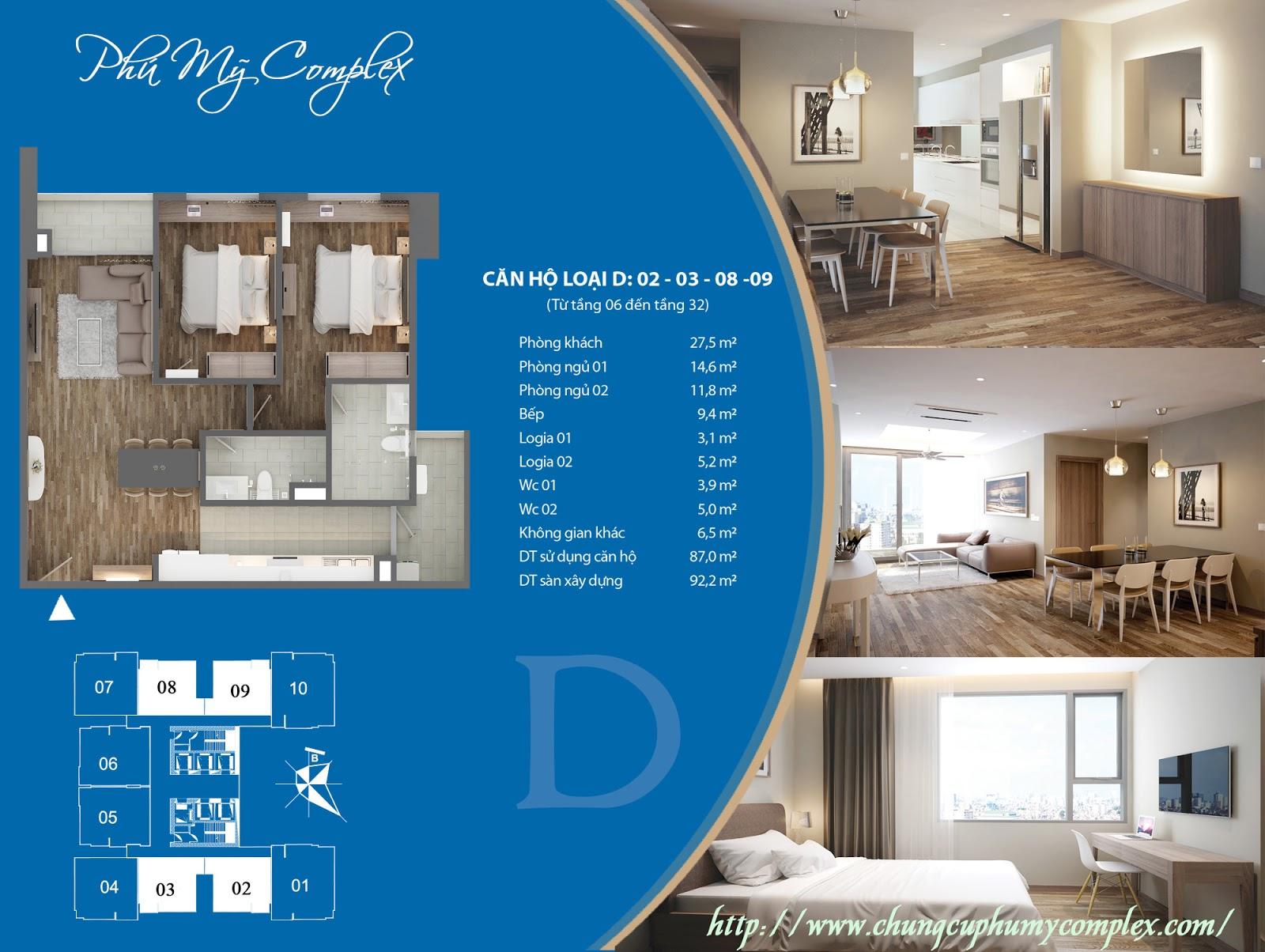 Bán lại căn 2608 chung cư Phú Mỹ Complex - Giá 31.5tr/m2