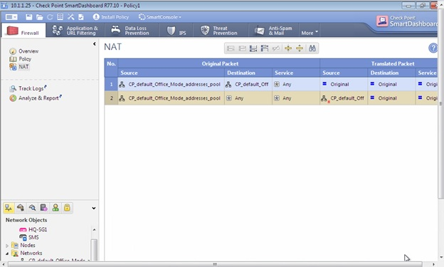 My Check Point CCSA Journal: Configuring NAT in Check Point