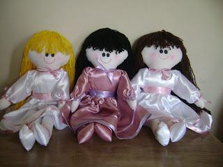 fotos+093 - Bonecas daminhas em tecido