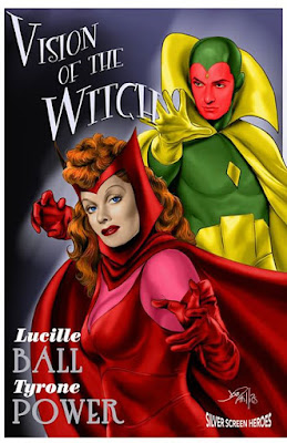 Vision of The Witch featuring Tyrone Power as the Vision and Lucille Ball as the Scarlet Witch