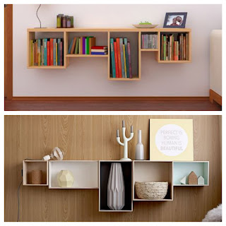 boxes, wooden boxes, storage, organization, box libraries, TV set, modern rooms, decoration ideas, mini desk, toilet for makeup, furniture, living room, library, children's room, wall decoration,cheap decor ideas, modern, living room, ideas