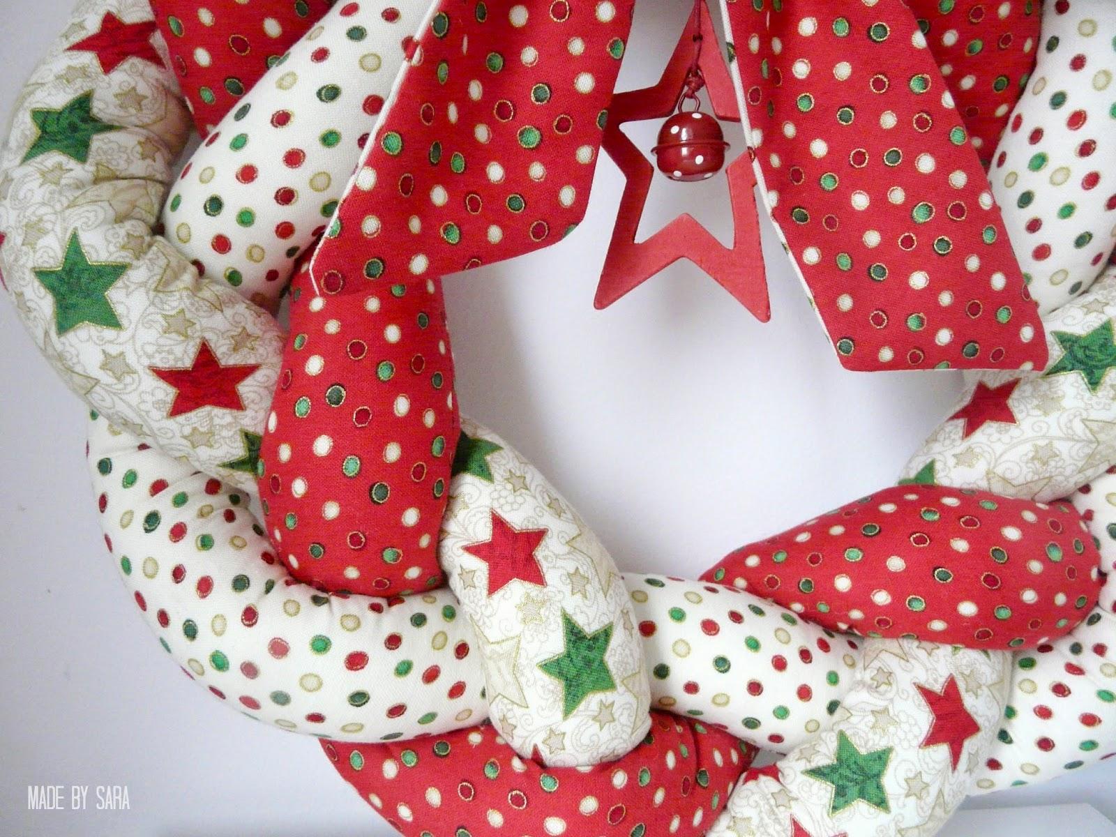Christmas plaited wreaths
