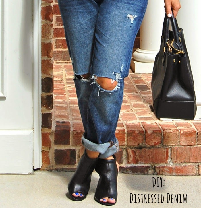 Glamvolution Diy Distressed Jeans