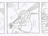 Komik Strip Karya Ikhsan Dwiono, Spiderman Ternyata Butuh Helm