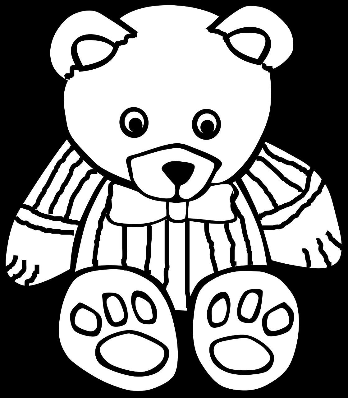 Mewarnai Gambar Teddy Bear Free Download
