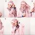 muncul modern atas kombinasi jilbab masa kini serta cardigan