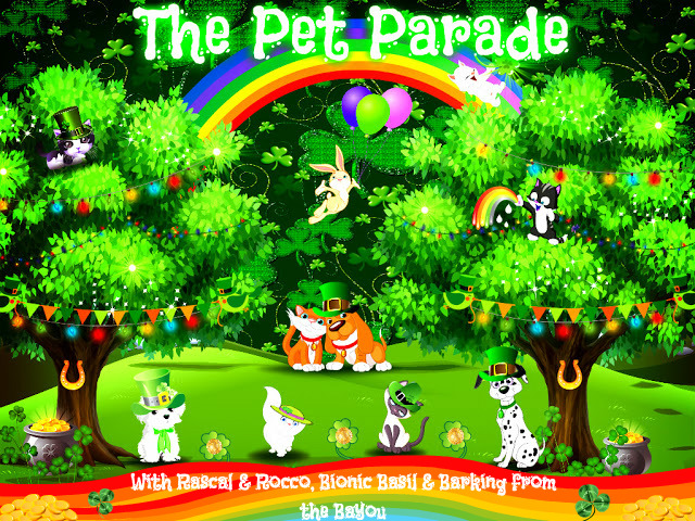 St. Patrick's Day themed Pet Parade Blog Hop banner