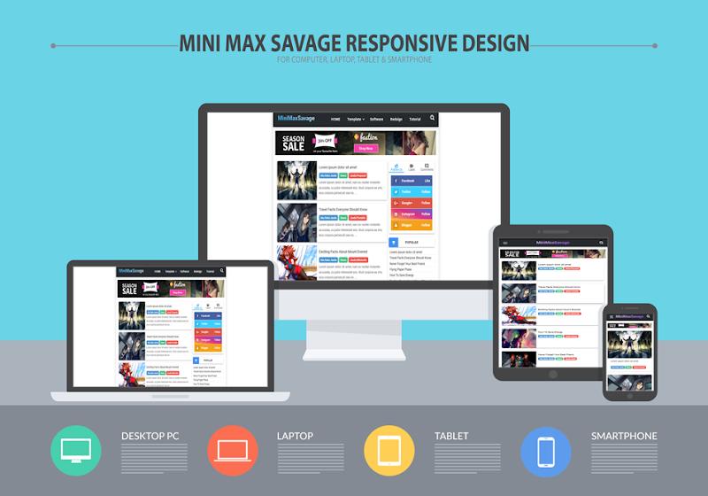 MiniMaxSavage Responsive Blogger Premium Template  - Responsive Blogger Template