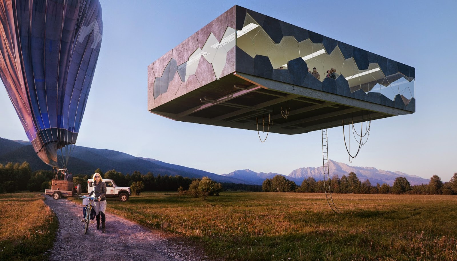 FLYING HOUSE: Flying House: Floating high tech residential ...
