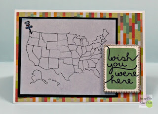 Unity Stamps, Stamping, SEI, Stickers, US Map