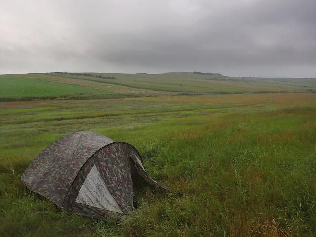 Namiot gdzieś w Rumunii