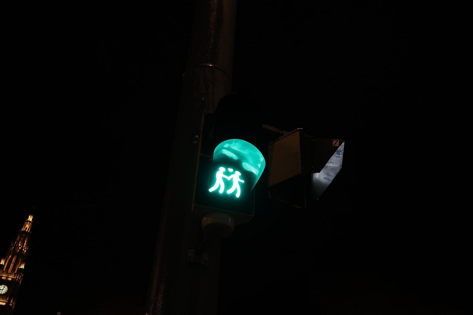 same sex green man crossing signal in Vienna