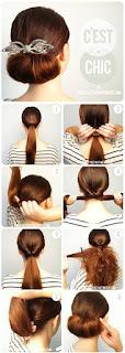 Model Sanggul Modern Pramugari (Rambut Sendiri) Mudah dan Sederhana