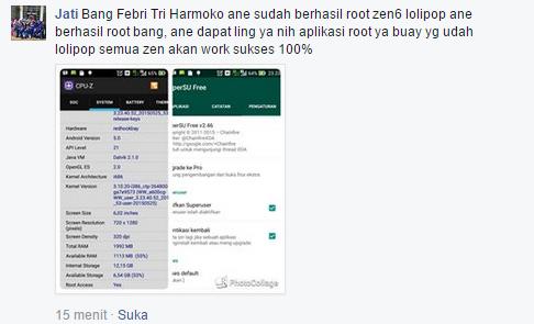 Cara Root Zenfone Android Lollipop