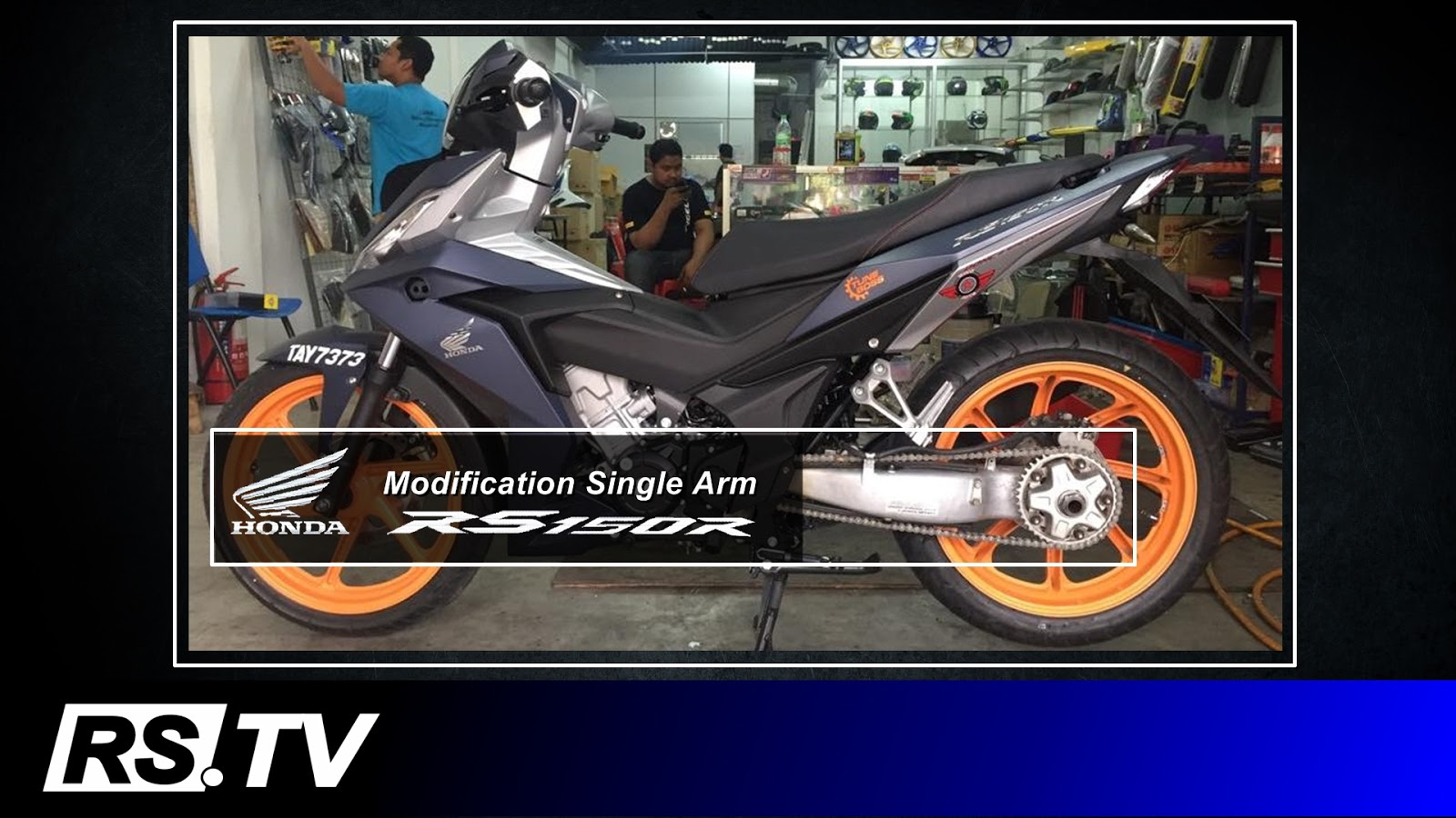 RSTV Video Blog Modifikasi Single Arm Honda RS150R Honda Supra