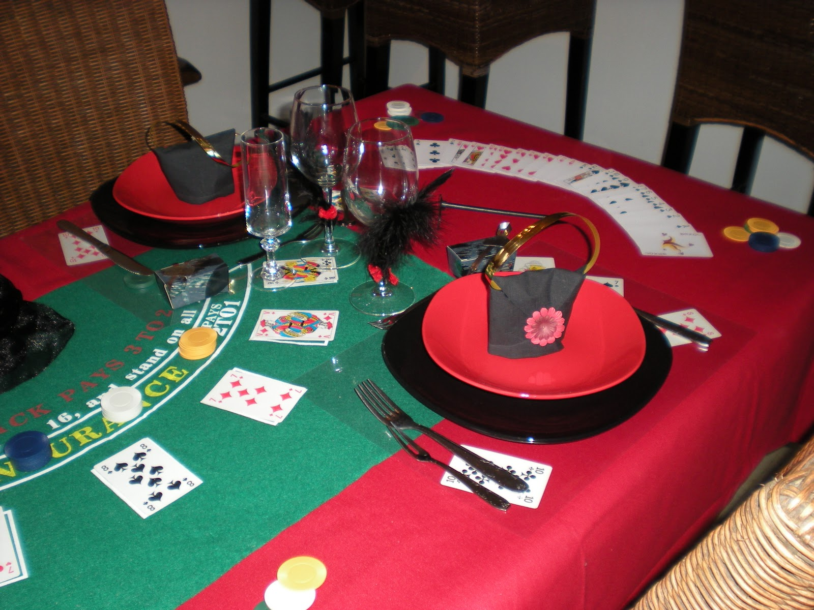 d co th mes nouvel an sur le th me jeux de casino. Black Bedroom Furniture Sets. Home Design Ideas