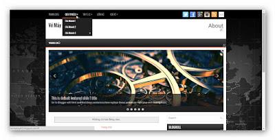 Hướng dẫn chỉnh sửa menu  blog