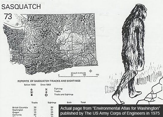 Bigfoot Sightings Map US Army