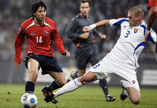 Eslovaquia y Chile en partido amistoso, 17 de noviembre de 2009