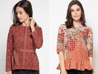 Contoh Model Blouse Batik Terbaik