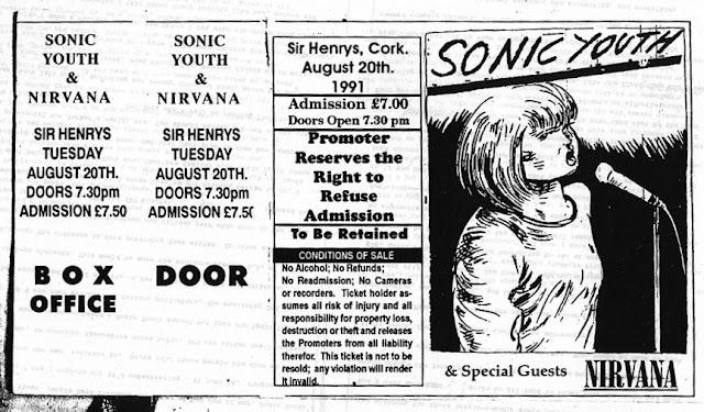 Sonic Youth Nirvana Sir Henrys Cork