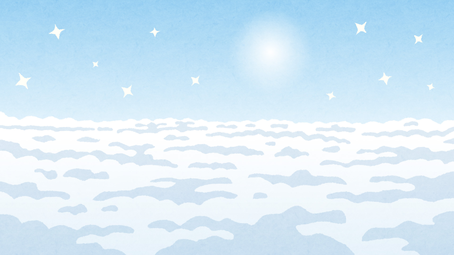 天国のイラスト背景素材 かわいいフリー素材集 いらすとや