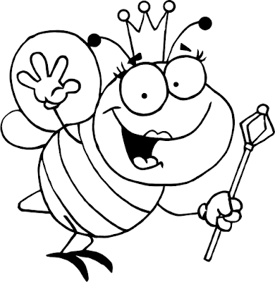 Gambar Mewarnai Lebah - 5