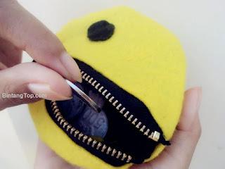 cara membuat dompet dari kain flanel