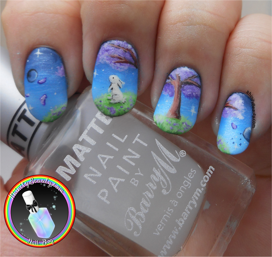 The Lonely Planet Bunny Space Nail Art Ithinitybeauty Nail
