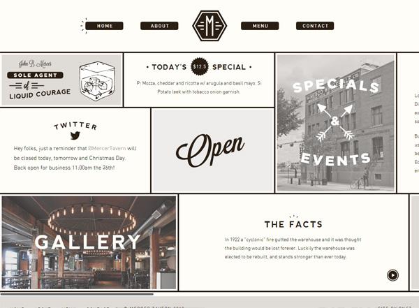Mercer Tavern - Desain Web Keren