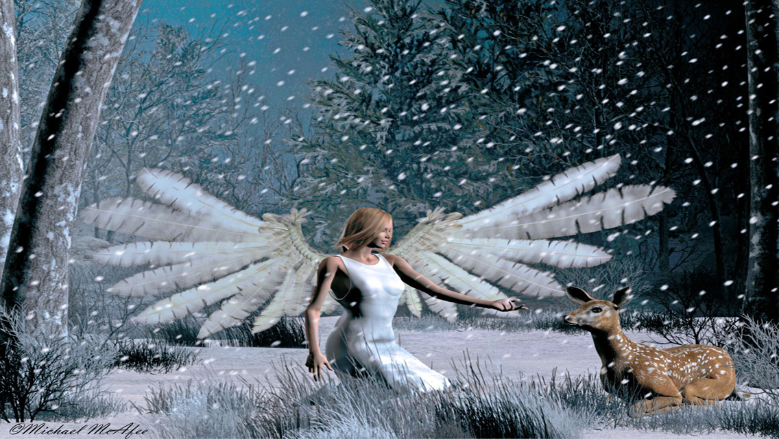 Free Download Christmas Angels HD Wallpapers for iPhone 5 | Free HD Wallpapers for Your iPhone ...