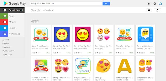 Emoji Fonts For FlipFont3 تنزيل وجوه تعبيرية اندرويد