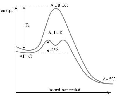 Laju reaksi beserta faktor faktor yang mempengaruhinya blog kimia fungsi katalis dalam reaksi adalah menurunkan energi aktivasi sehingga jumlah molekul yang dapat melampaui energi aktivasi menjadi lebih besar ccuart Image collections