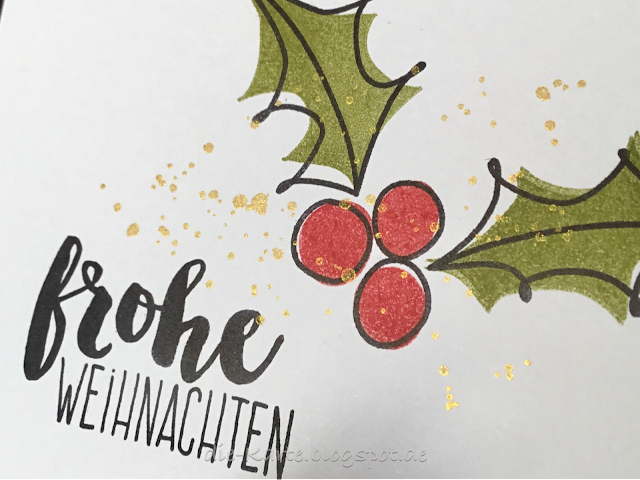 """""""Layered Holly-The Bee's Knees"""" STAMPlorations,  """"13mal Frohe Weihnachten"""" Klartext Stempel"""