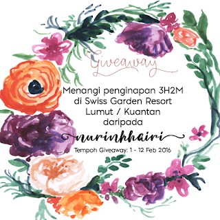 Giveaway nurinkhairi x SHAKLEE Collagen Powder - Menangi Penginapan Swiss Garden Resort