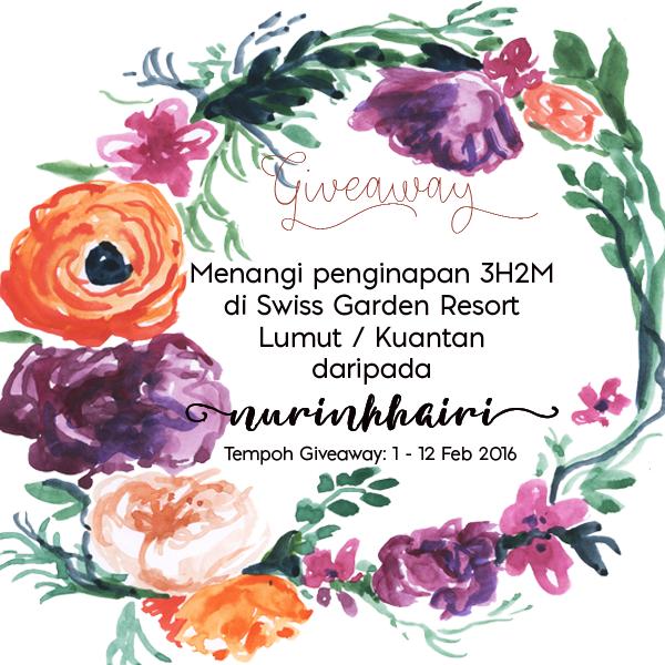 Giveaway nurinkhairi x SHAKLEE Collagen Powder - Menangi Penginapan Swiss Garden Resort