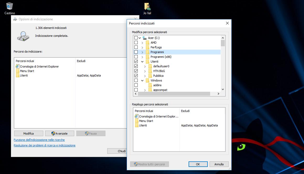 Come aggiungere più percorsi di File per la Ricerca di Cortana in Windows 10 3
