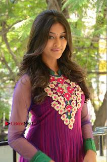 Actress Pooja Jhaveri Latest Stills in Purple Salwar Kameezt at Dwaraka Success Meet  0028.JPG