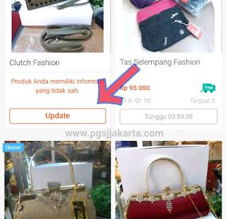 Mengatasi Peringatan Produk memiliki Informasi yang tidak sah Di Shopee.id
