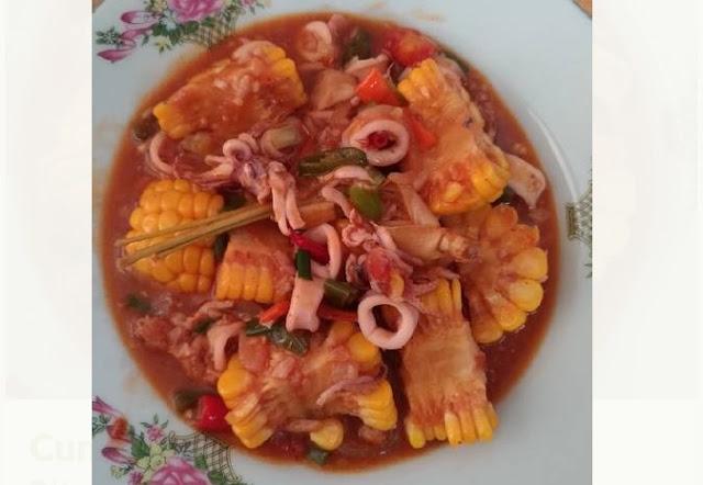 Cara masak cumi saus padang pedas enak asli ala seafood