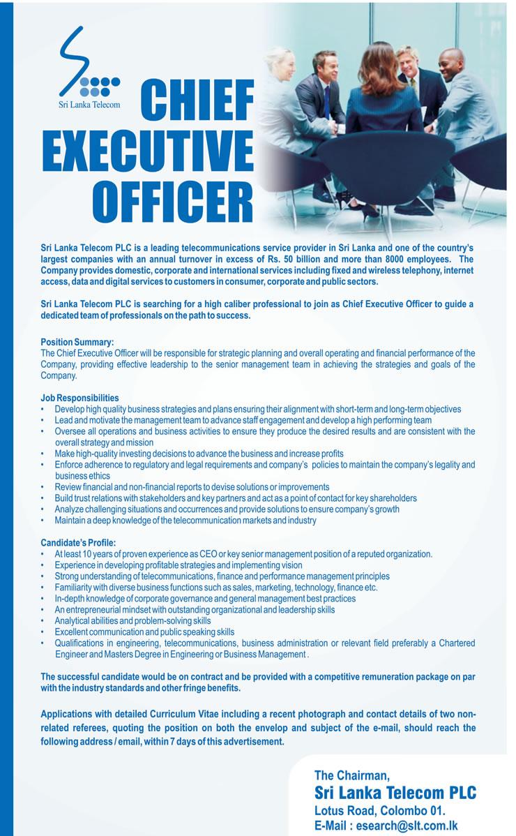 Vacancies in Sri Lanka Telecom